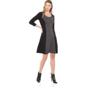 Karen Kane dress with faux leather details